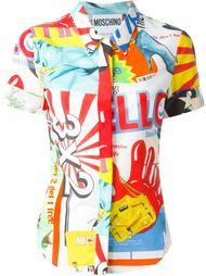 рубашка с комбинированным принтом Moschino