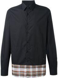 рубашка с клетчатым подолом Raf Simons