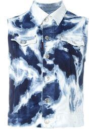 джинсовый жилет с принтом тай-дай Dsquared2