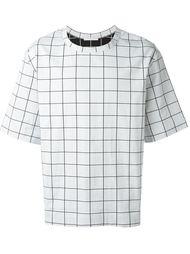 футболка в клетку Lucio Vanotti
