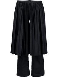 укороченные брюки с плиссированным фартуком Facetasm