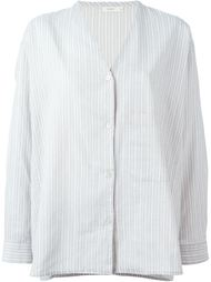 полосатая рубашка с V-образным вырезом 6397