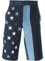 джинсовые шорты с заплатками в форме звезд Givenchy