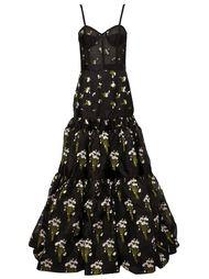 пышное вечернее платье на бретельках Alexander McQueen