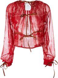 прозрачная блузка  Etro