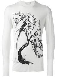 свитер с принтом дерева с черепами Alexander McQueen