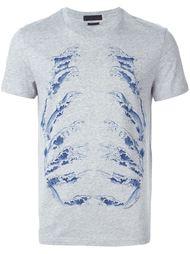 футболка с принтом волн Alexander McQueen
