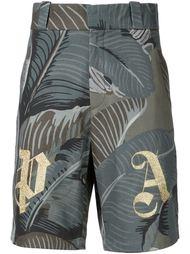 шорты с лиственным принтом 'PA' Palm Angels