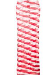 юбка миди с прозрачными вставками Stella McCartney