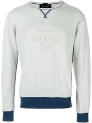 свитер с контрастным подолом Armani Jeans