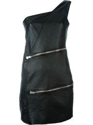 мини-платье с отделкой молниями Saint Laurent