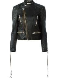 байкерская куртка с потертой отделкой Saint Laurent