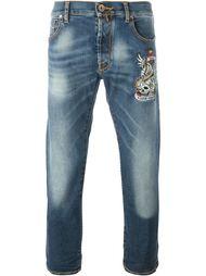 джинсы с вышивкой  Jacob Cohen