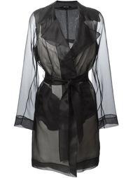 прозрачное пальто-тренч  Maison Margiela