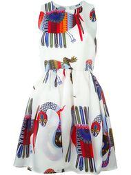 расклешенное платье с абстрактным принтом MSGM