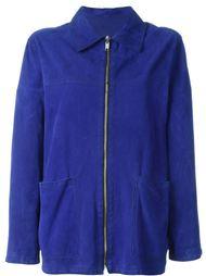 замшевая куртка Versace Vintage