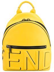 рюкзак с тисненным логотипом Fendi