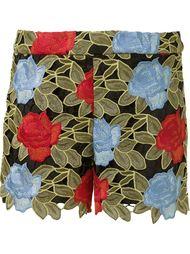 шорты с цветочной вышивкой Alice+Olivia
