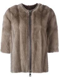 меховая куртка с короткими рукавами Liska