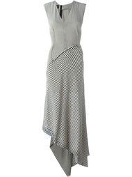 лоскутное платье в клетку  Yang Li