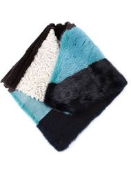 полосатый шарф в стиле колор-блок Liska
