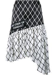 асимметричная юбка с узором в сетку Ashley Williams