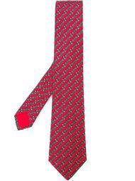 галстук с принтом пряжек Hermès Vintage