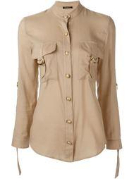 рубашка с накладными карманами Balmain