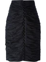 юбка-карандаш со сборкой Lanvin Vintage