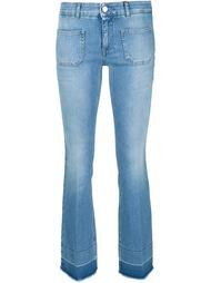 укороченные джинсы с необработанными краями Stella McCartney