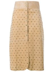 юбка-карандаш с заклепками Lanvin