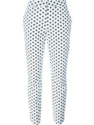 брюки стандартного кроя с растительным принтом Diane Von Furstenberg