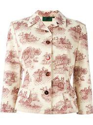 джинсовая куртка с графическим принтом Jean Paul Gaultier Vintage