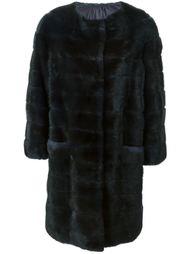 дутое норковое пальто Liska
