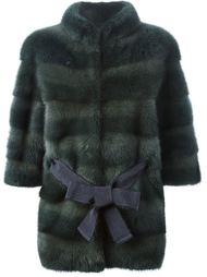 меховая куртка с поясом Liska