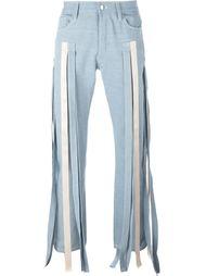 джинсы с декоративными лентами  Nicopanda