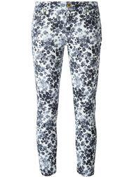 джинсы кроя скинни  с цветочным принтом   Michael Michael Kors