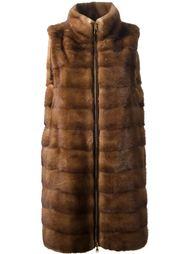 меховое пальто без рукавов Liska