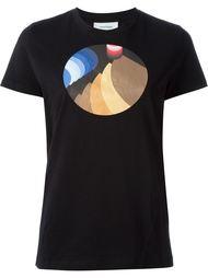 футболка с принтом  Courrèges