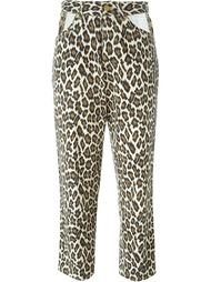 джинсы с леопардовым принтом Jean Paul Gaultier Vintage