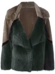 укороченное пальто из норкового меха Liska