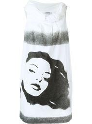 платье с принтом женского лица Moschino Vintage