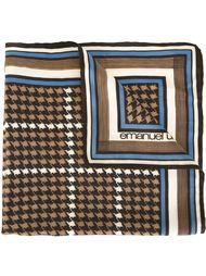 платок с узором в ломаную клетку Emanuel Ungaro Vintage