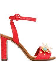 босоножки с цветочной аппликацией  Dolce & Gabbana