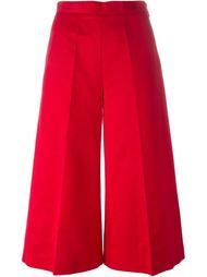 укороченные расклешенные брюки MSGM