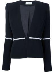 пиджак с отделкой из жемчужных бусин Mugler