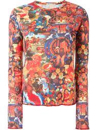 топ с цифровым принтом Jean Paul Gaultier Vintage