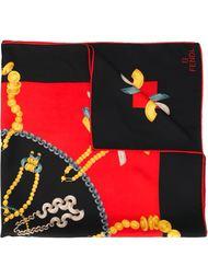 платок с принтом украшений Fendi Vintage