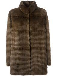 пальто с воротником стойкой  Liska