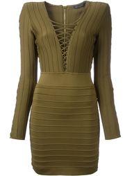 платье в рубчик  Balmain